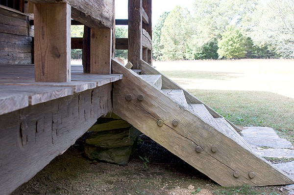 New Echota Cherokee Capital - Vann's Tavern Pegged Steps