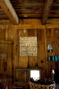 New Echota Cherokee Capital - Vann's Tavern 1830's Prices