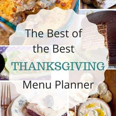 Best of the Best Thanksgiving Menu planner