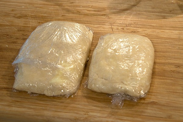 Wrap and refrigerate dough for Apple Slab Pie