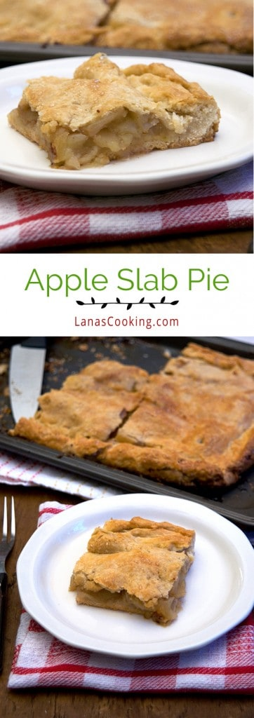 Apple Slab Pie - a rectangular, freeform pie with apples and all the good fall spices. From @NevrEnoughThyme https://www.lanascooking.com/apple-slab-pie