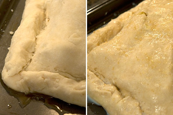 Seal edges of crust for Apple Slab Pie