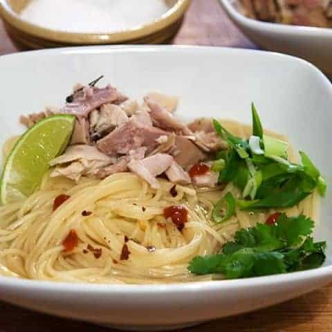 Asian Inspired Turkey Noodle Bowl