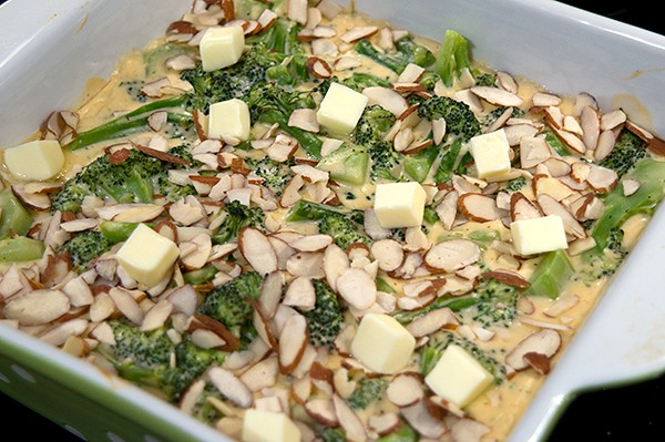 Add almonds to broccoli casserole