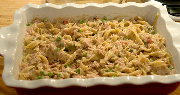 tuna noodle casserole from never enough thyme