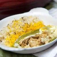 Chicken and Cheese Stuffed Roasted Chiles - Whole roasted chiles filled with a mixture of chicken, onion, cheese, and spices and baked in a savory custard. From @NevrEnoughThyme http://www.lanascooking.com/chicken-cheese-stuffed-roasted-chiles