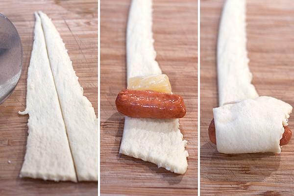 Sausage-Pineapple Rollups