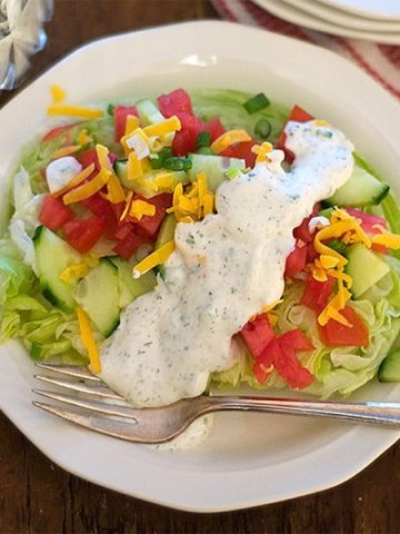 Herby, tangy Buttermilk Ranch Dressing from @NevrEnoughThyme https://www.lanascooking.com/buttermilk-ranch-dressing/