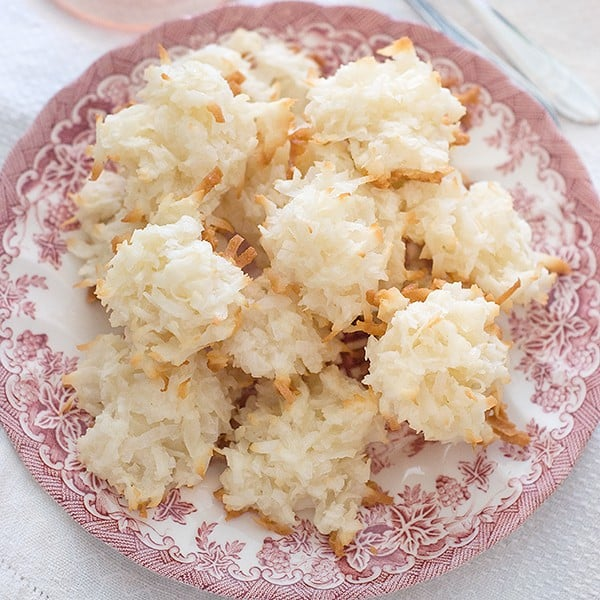 Coconut Macaroons - a sweet, moist interior with a slightly crunchy ...
