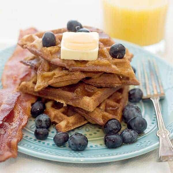 Cinnamon Brown Sugar Waffles - waffles with a brown sugar, cinnamon ...