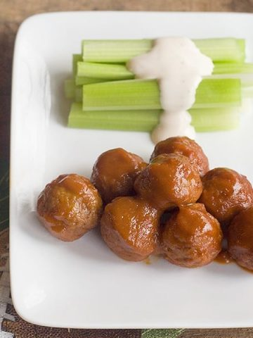 Meatballs with Dijon-Whiskey Sauce - cocktail meatballs in a sauce with Dijon mustard and Tennessee whiskey. Great game day food! https://www.lanascooking.com/meatballs-dijon-whiskey-sauce/