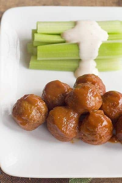 Meatballs with Dijon-Whiskey Sauce - cocktail meatballs in a sauce with Dijon mustard and Tennessee whiskey. Great game day food! From @NevrEnoughThyme http://www.lanascooking.com/meatballs-dijon-whiskey-sauce