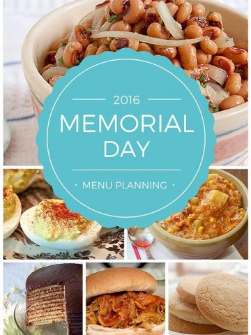 2016 Memorial Day menu planning - a roundup of main dishes, sides, and desserts for your unofficial start of summer get togethers. From @NevrEnoughThyme https://www.lanascooking.com/2016-memorial-day-menu-planning