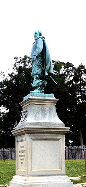 Captain John Smith statue at Jamestown. From @NevrEnoughThyme http://www.lanascooking.com/americas-historic-triangle