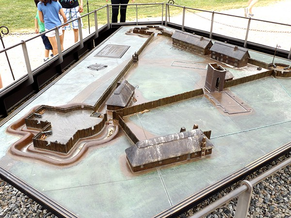 Scale model recreation of the Jamestown historic site. From @NevrEnoughThyme http://www.lanascooking.com/americas-historic-triangle
