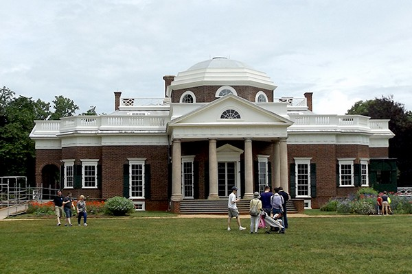 Monticello - Thomas Jefferson's home. From @NevrEnoughThyme https://www.lanascooking.com/americas-historic-triangle