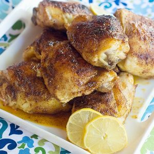 Lemon and Honey Glazed Chicken Thighs