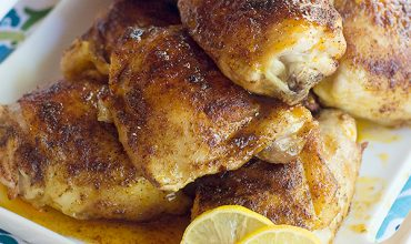 Lemon and Honey Glazed Chicken Thighs