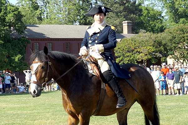 General Anthony Wayne rousing the troops for the Battle of Yorktown. From @NevrEnoughThyme http://www.lanascooking.com/americas-historic-triangle