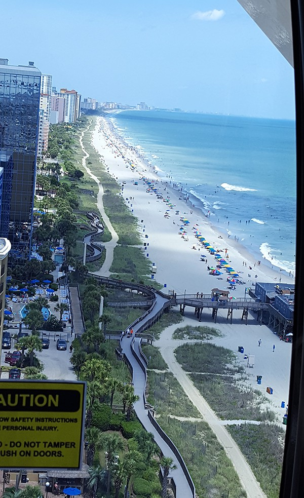 View from Myrtle Beach SkyWheel http://www.lanascooking.com/myrtle-beach