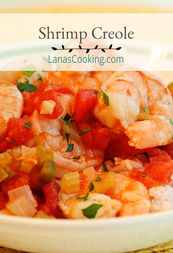 Louisiana Shrimp Creole - tomatoes and the trinity of bell pepper, onion, and celery combine to make a sauce for this southern classic. From @NevrEnoughThyme https://www.lanascooking.com/shrimp-creole/