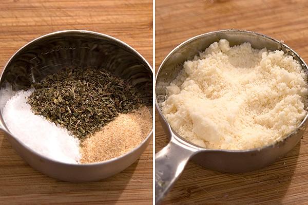 Seasonings and Parmesan