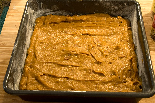 Batter for Pumpkin Cream Cheese Brownies