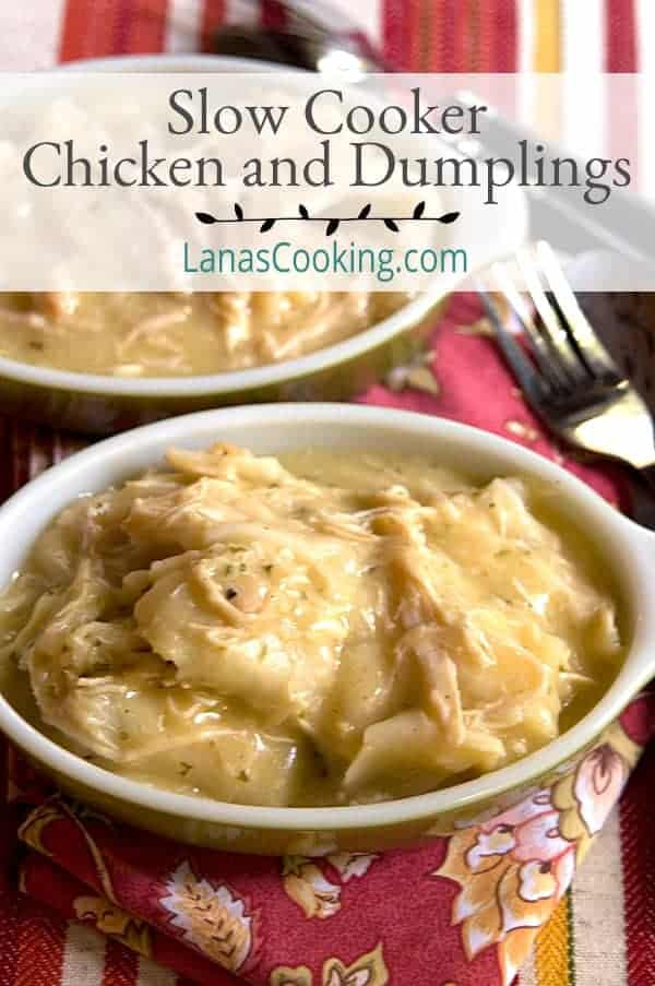 A luscious recipe for Chicken and Dumplings made in the slow cooker. From @NevrEnoughThyme https://www.lanascooking.com/A luscious recipe for Chicken and Dumplings made in the slow cooker. From @NevrEnoughThyme https://www.lanascooking.com/https://www.lanascooking.com/slow-cooker-chicken-and-dumplings/