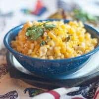 This Mexican Style Corn Salad is based on the flavors of the well-known corn on the cob sold on the streets in Mexico. Great for a cookout! From @NevrEnoughThyme https://www.lanascooking.com/mexican-style-corn-salad/