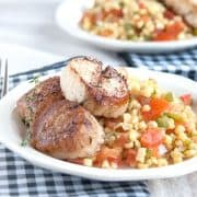 Fresh Florida sweet corn is so versatile. Serve it boiled, steamed, or microwaved or in recipes like this Sweet Corn Salad with Seared Sea Scallops. https://www.lanascooking.com/sweet-corn-salad-seared-sea-scallops/