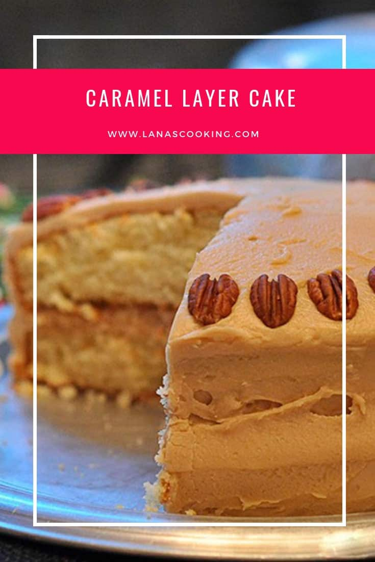 Southern caramel layer cake - moist yellow cake layers topped with a caramel frosting. A favorite of everyone in our family. From @NevrEnoughThyme http://www.lanascooking.com/caramel-layer-cake