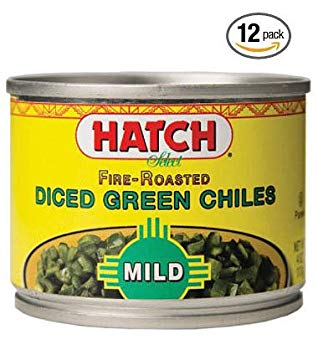 Hatch Fire Roasted Mild Diced Green Chiles (Pack of 12)
