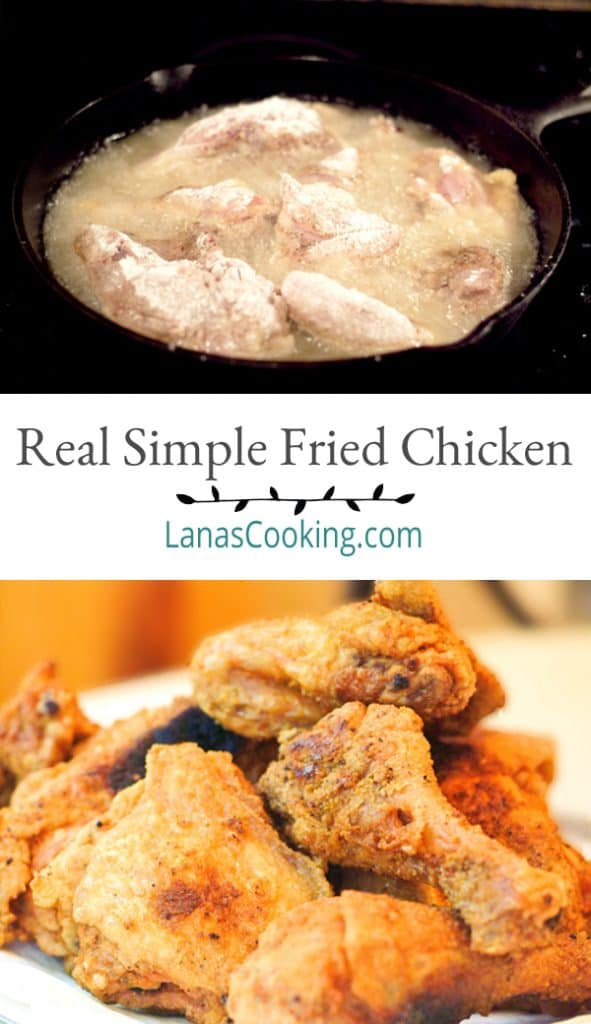 My simplest and most authentic southern recipe for Real Simple Fried Chicken. Quick and easy for a family dinner or special occasion. From @NevrEnoughThyme https://www.lanascooking.com/real-simple-fried-chicken