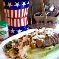 Grilled Steak Salad with Bleu Cheese Dressing