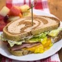 Ham on Rye Breakfast Sandwich