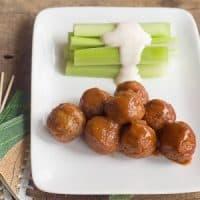 Meatballs with Dijon-Whiskey Sauce