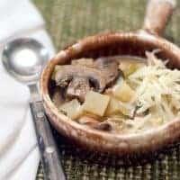 Turkey, Mushroom, and Potato Soup
