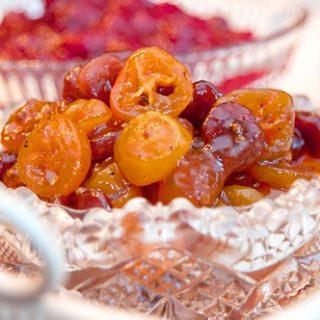 Kumquat Dried Cherry Chutney and Cranberry Orange Relish