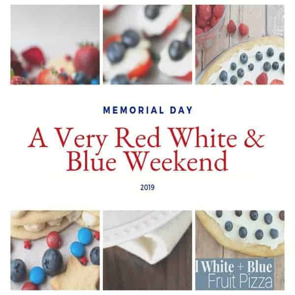 A selection of thoroughly patriotic recipes to add a little red, white, and blue to your Memorial Day festivities. Add a touch of color to your menu. From @NevrEnoughThyme https://www.lanascooking.com/red-white-blue-weekend/