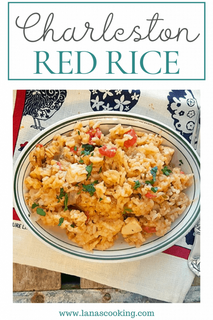 My Charleston Red Rice is a one-pot meal of rice, chicken, and tomatoes, based on the famous Charleston rice recipe. Low country cooking at its finest! https://www.lanascooking.com/red-rice/