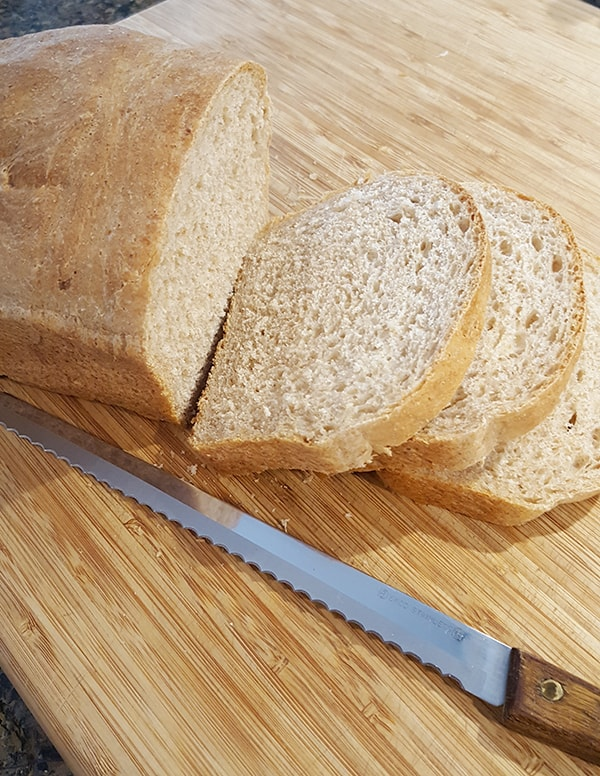 Slice the bread after it has completely cooled