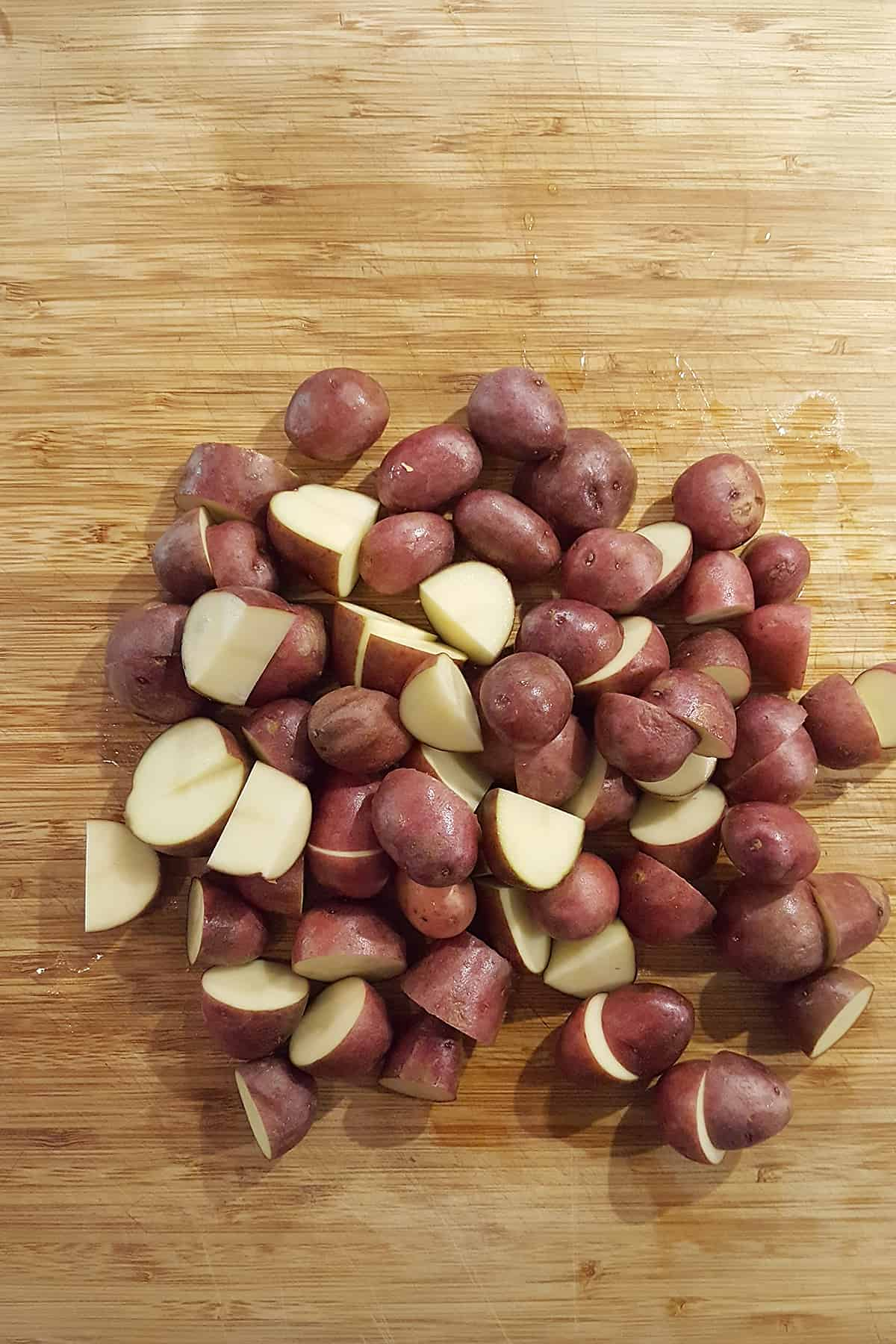 Cut the potatoes into bite-sized pieces