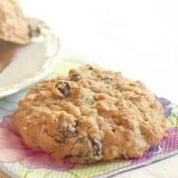 Best Ever Oatmeal Raisin Cookies Post Feature Image