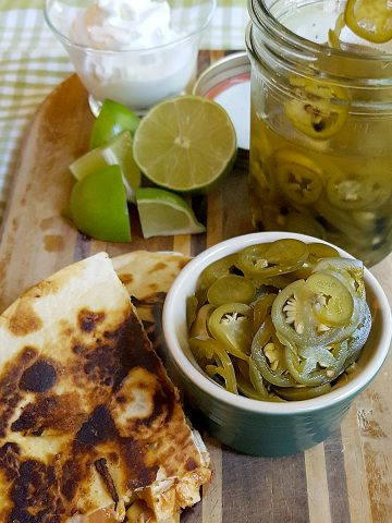 These quick pickled jalapenos take just a few minutes to make and their tart, spicy flavor will complement all your favorite southwestern style meals. https://www.lanascooking.com/quick-pickled-jalapenos/