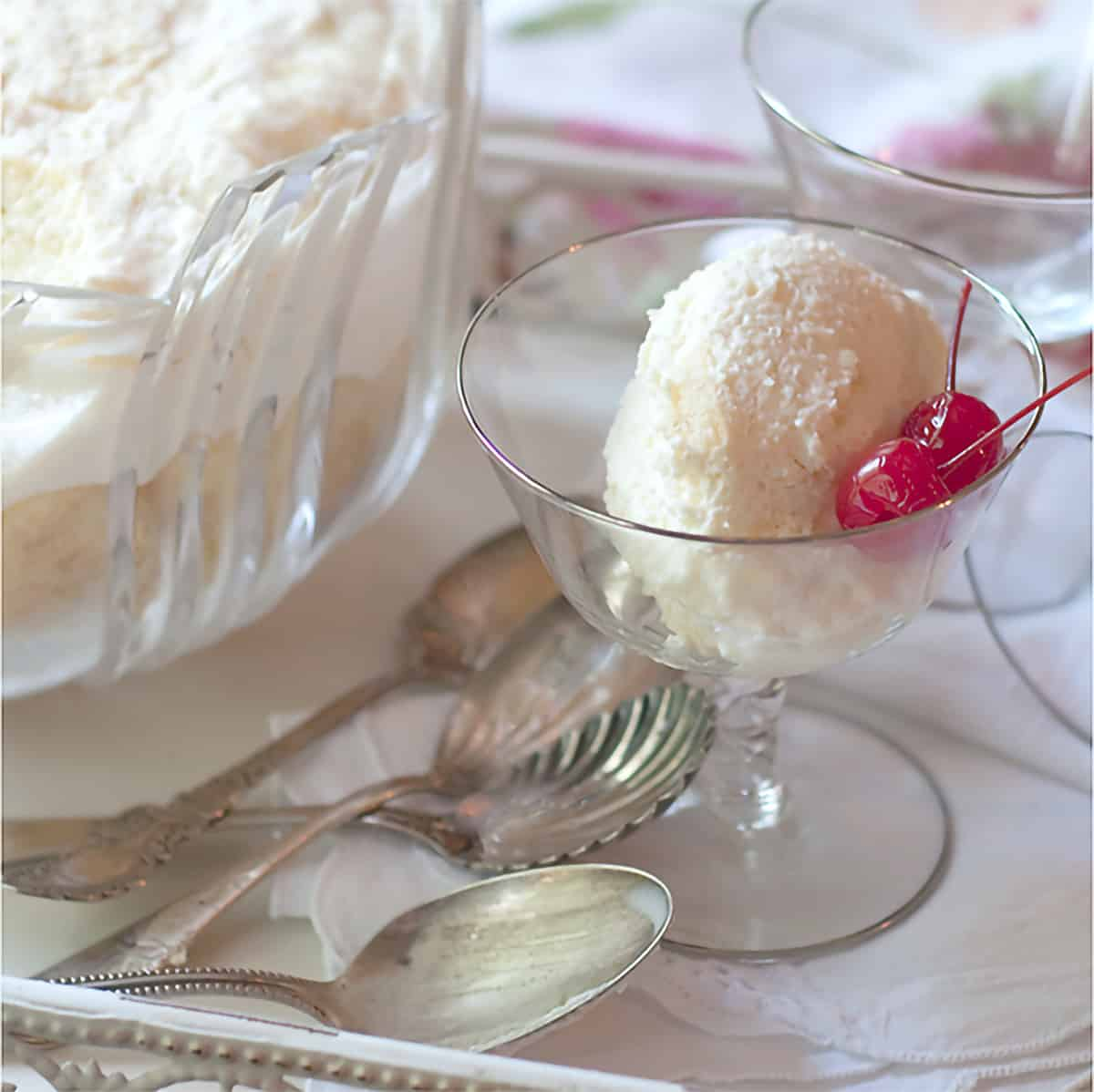 Charlotte Russe is a creamy dessert combination of eggs, whipping cream and whiskey. Traditionally served at Christmas and holidays. https://www.lanascooking.com/charlotte-russe/