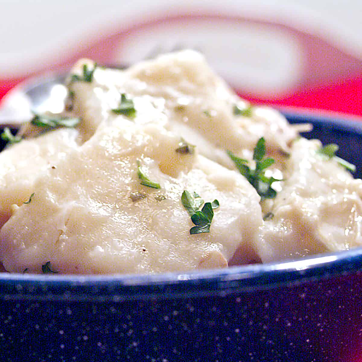 Chicken and Dumplings - the traditional southern way with rolled dumplings. Almost as good for a cold as chicken soup! From @NevrEnoughThyme https://www.lanascooking.com/chicken-and-dumplings/