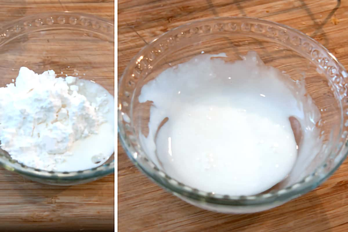 Small bowl containing the glaze mixture.