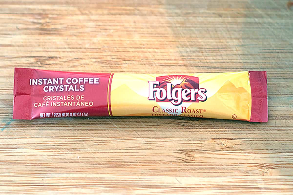 A packet of instant coffee.