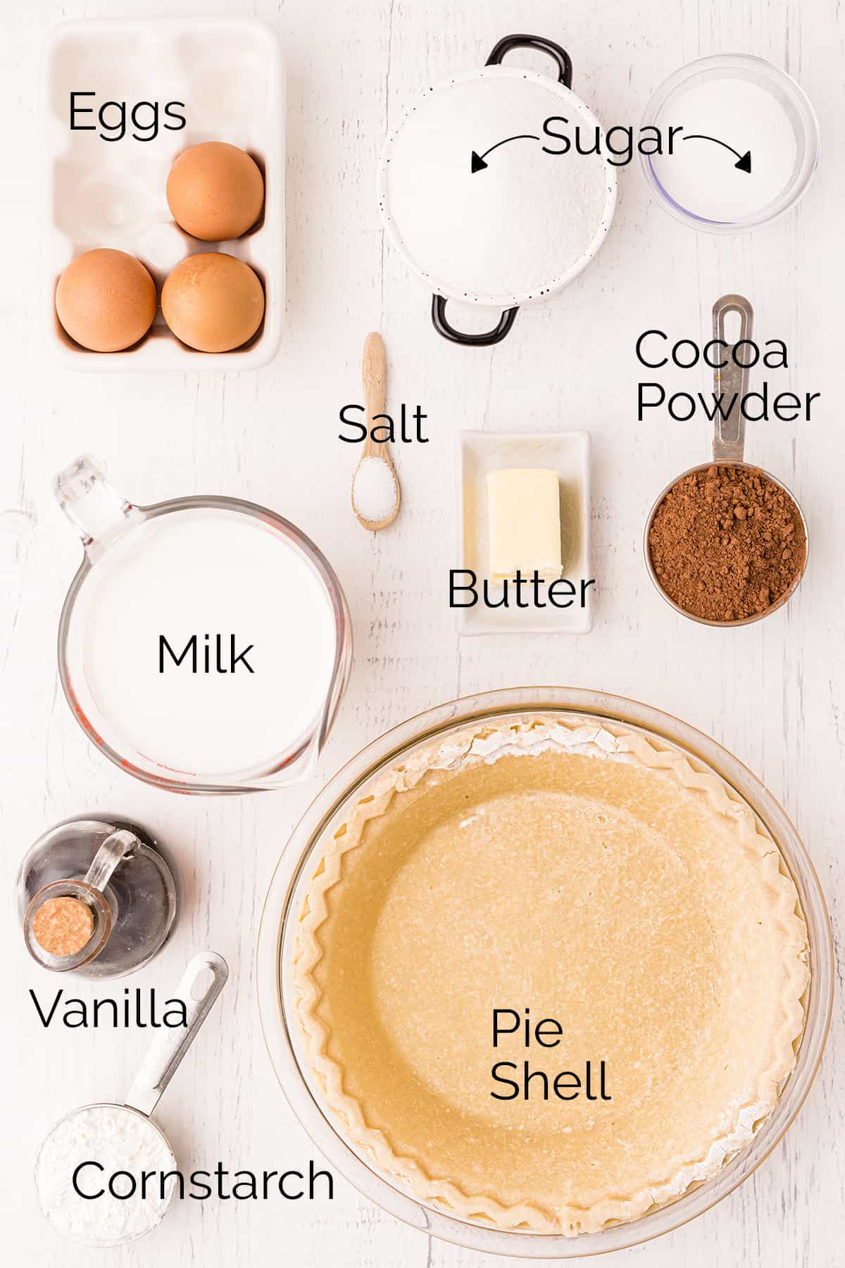 Ingredients needed for the recipe.