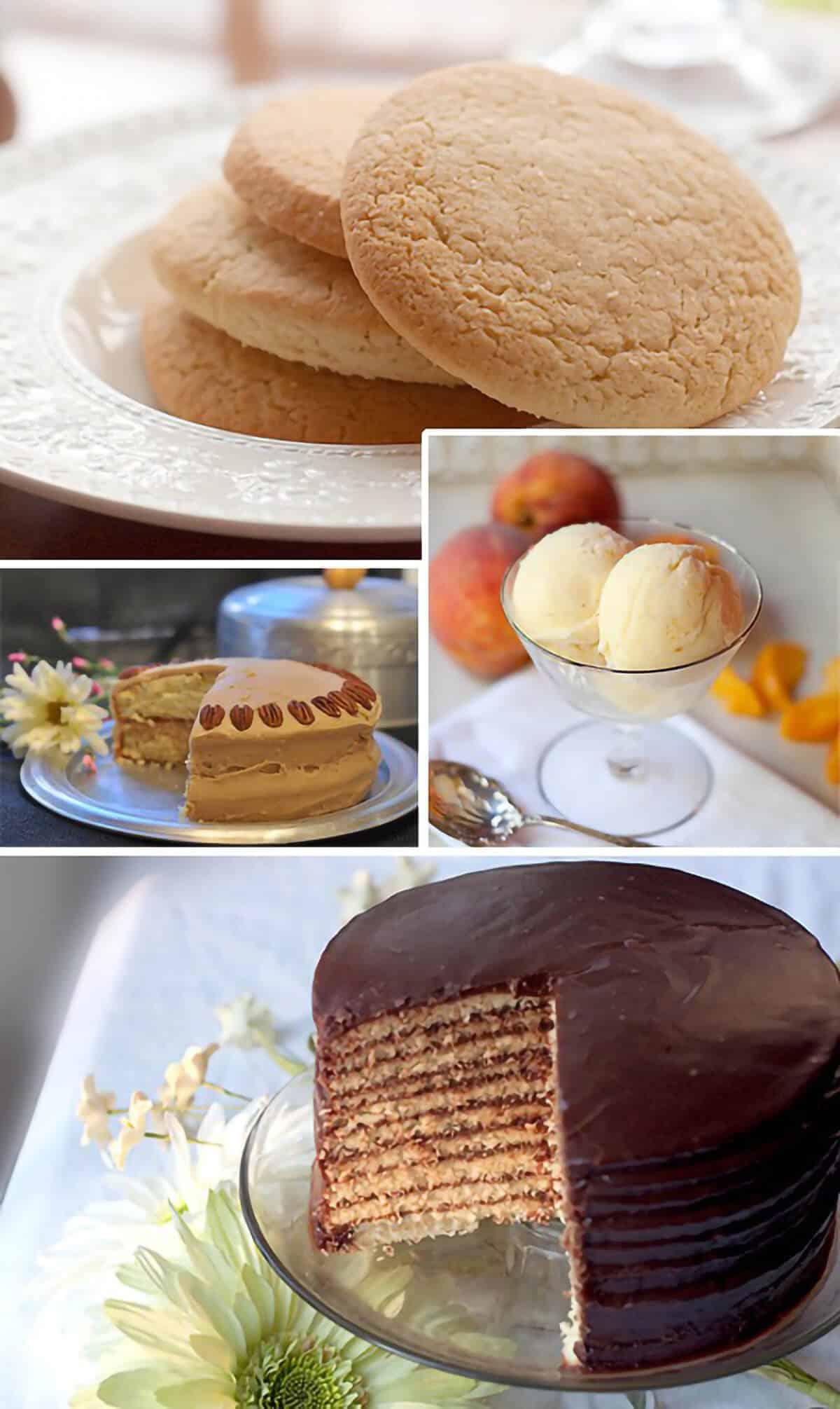 Photo collage of dessert recipes.